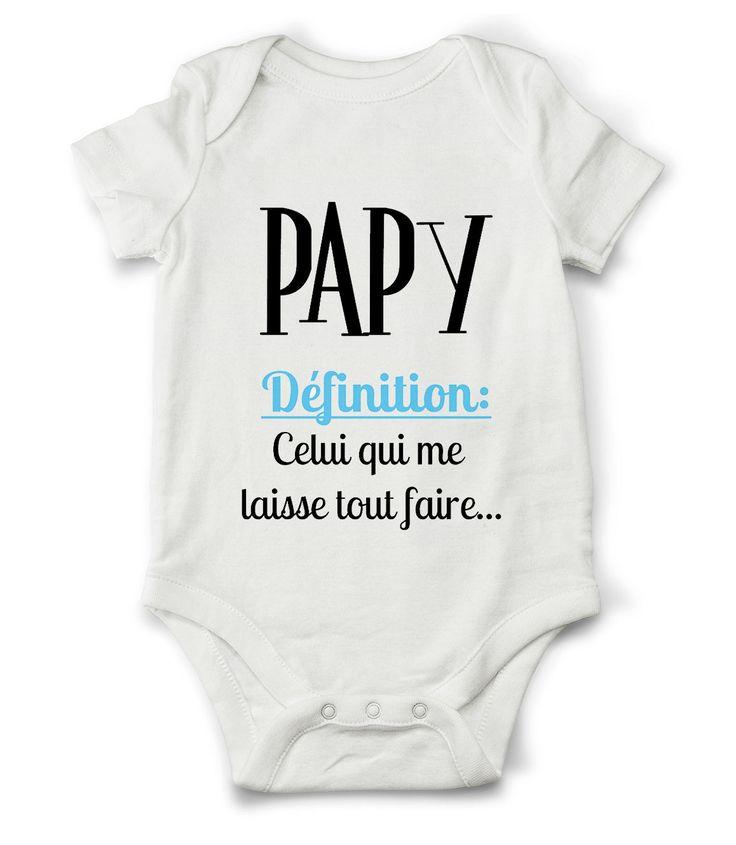 Body grenouillère définition de papy... : Mode Bébé par creatike
