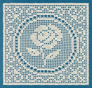 Filet Crochet Rose