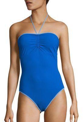 Diane von Furstenberg Halter Tie One-Piece Swimsuit