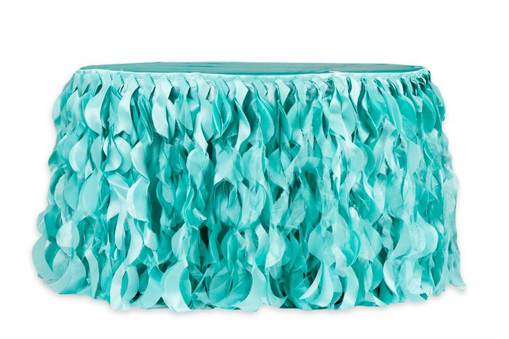 Curly+Willow+14ft+Table+Skirt+-+Turquoise+(new+tone)