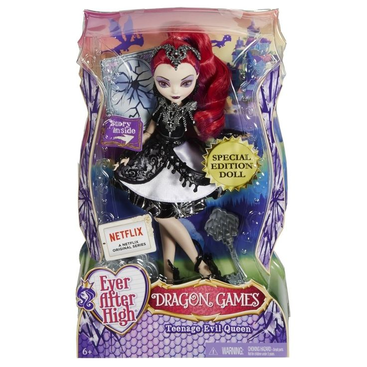 EVER AFTER HIGH Teenage Evil Queen Doll Dragon Games NEW IN BOX