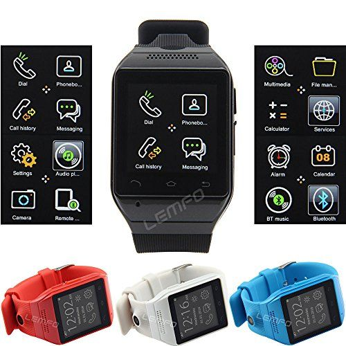 """Flylinktech® S19 Bluetooth 3.0 astuto Watch Phone versione aggiornata con 1.54 """"pollici schermo di tocco capacitivo / lusso da polso al quarzo con Ordito Mini macchina fotografica spia nascoste per tutti Android Smaretphones telefono mobile impermeabile Stra FLY-shop® http://www.amazon.it/dp/B00PILO4IK/ref=cm_sw_r_pi_dp_EJ12wb0YEJ1TG"""