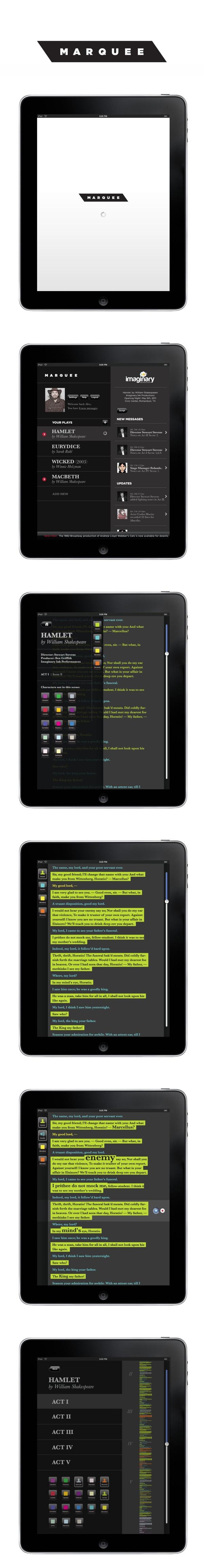MARQUEE App | Designer: Rolando Alcantara