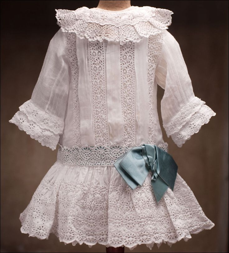 This gorgeous antique OOAK White Dress is inspiration for an AG dress!