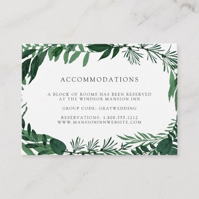 Wild Forest Wedding Hotel Accommodation Cards Zazzle Com Forest Wedding Hotel Wedding Accommodations Card