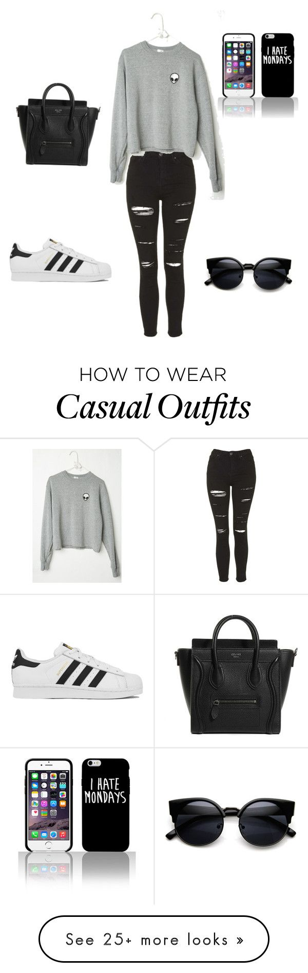 Casual by feer-lopeez on Polyvore featuring moda, Topshop, adidas, womens clothing, womens fashion, women, female, woman, misses y juniors