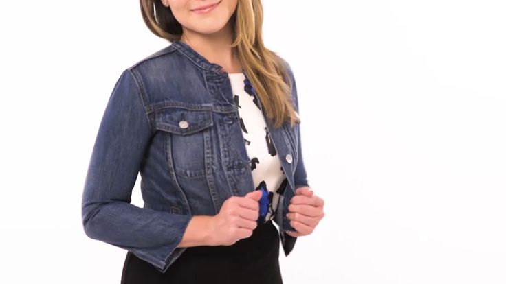 How to Make a Cropped Denim Jacket: Turn an oversized denim jacket into a cute, cropped one with this easy tutorial!
