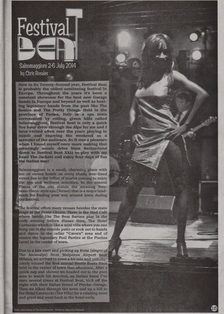 The Excitements @ festivalbeat italy on Banana magazine