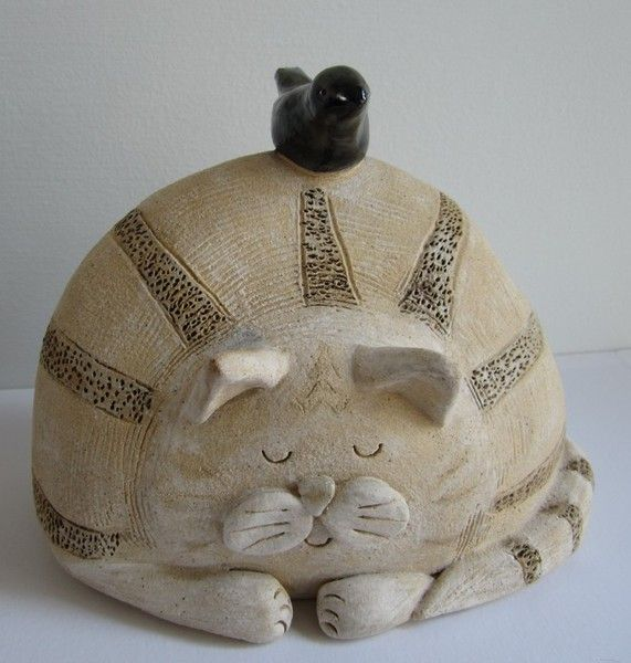Fat cat Frostproof 18cm high made to order £35