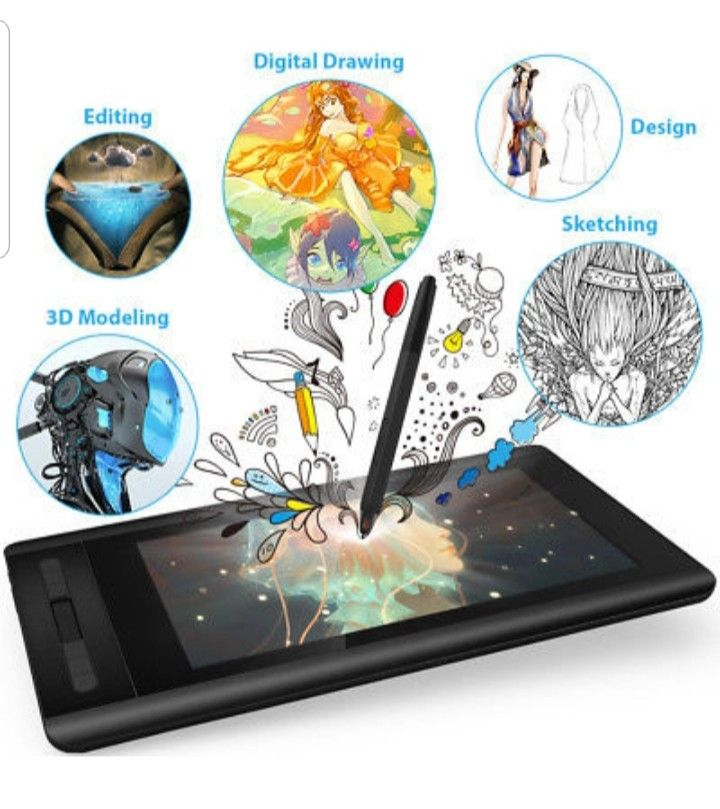 Details About Xp Pen Artist12 Graphics Monitor Drawing Tablet Monitor Pen Display Digital Pad Drawing Tablet Drawings Drawing Tablet With Screen