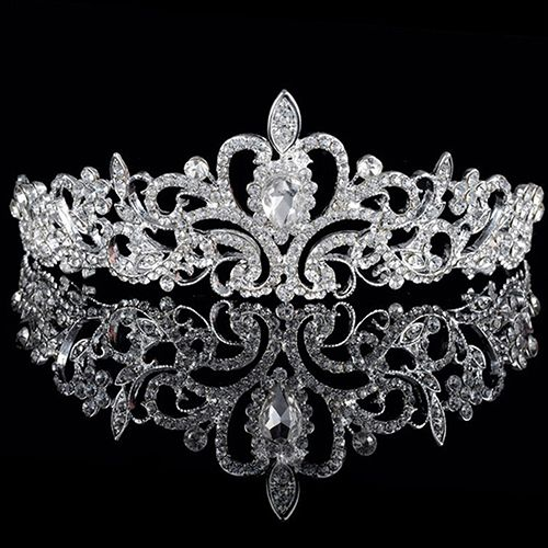 Europe Style Women Elegant Wedding Bride Crown Headwear Shiny Rhinestone Tiaras Cute Head Pin Sweet Hair Jewelry Gift