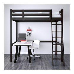 IKEA - STORÅ, Struttura per letto a soppalco, mordente bianco, , Puoi organizzare lo spazio sotto il letto con dei mobili, una scrivania e delle sedute.La scala si può montare sul lato destro o sul lato sinistro del letto.È in legno massiccio, un materiale naturale caldo e resistente.
