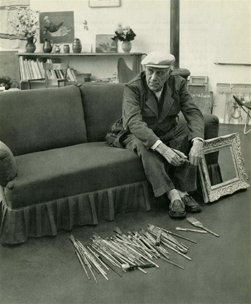 Robert Doisneau: Braque and Brushes 1953