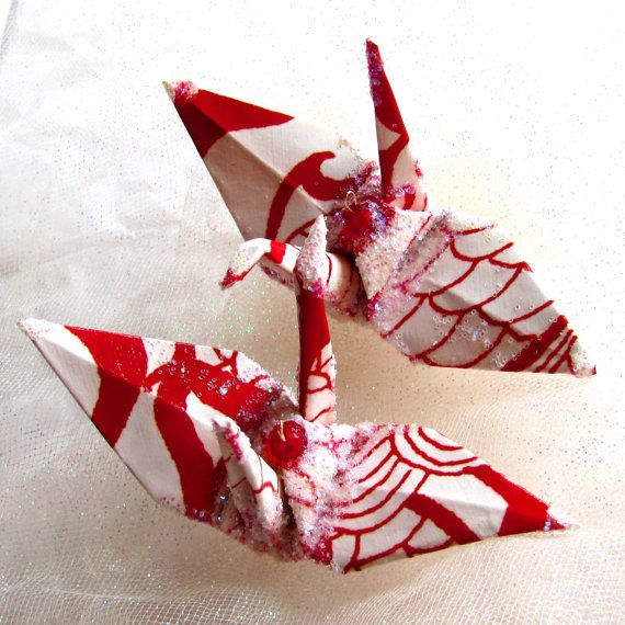 dragon wedding cake toppers | Big Red Dragon Bird Peace Crane Wedding Cake Topper Party Favor ...