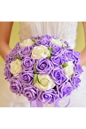 Bouquets de Noiva Bouquets de casamento Mão-amarrado Fibra de poliéster 30 flores