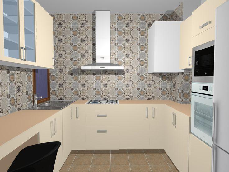 Vrei să ştii dinainte cum va arăta bucătăria ta? Nicio problemă! Cumpără de la Castilio gresie şi faianţa si vei avea GRATIS designul 3D! Model de amenajare pentru bucătarie realizat de către designerii Castilio folosind colecţia 801 Orient Ceramic.