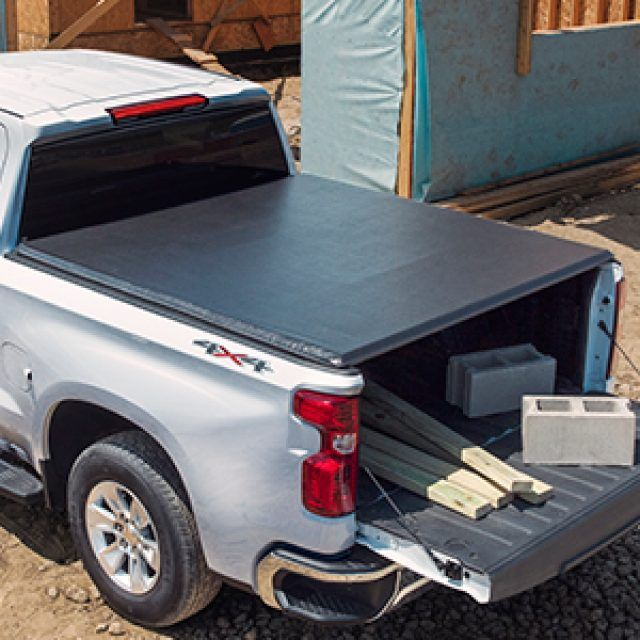 Short Bed Soft Roll Up Tonneau Cover In Black By Advantage