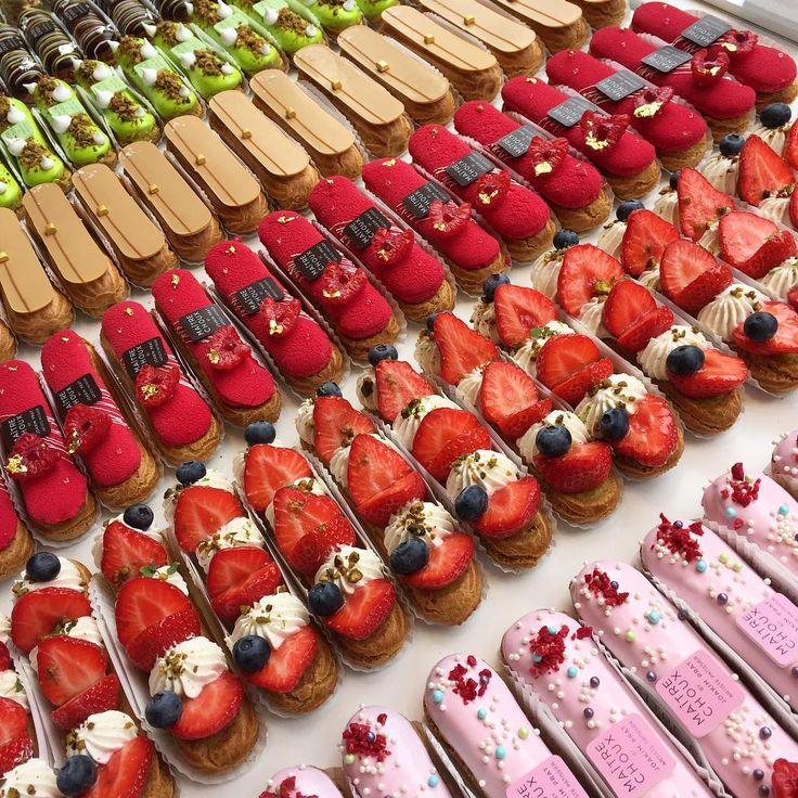 Good morning!!!! love pastry! @chefjoakim #maitrechoux #londonbestfood #eclair #eclairs #eatincolor #foodart #foodporn