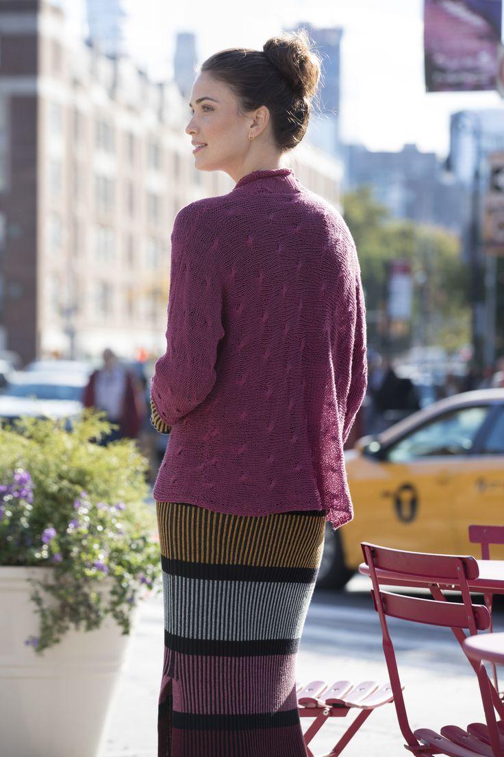Hudson Street Cardigan in Stacy Charles Fine Yarns Alicia