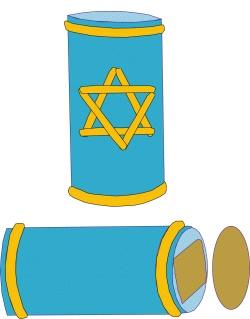 Akhlah: Hanukkah Craft - Hanukkah Match Holder