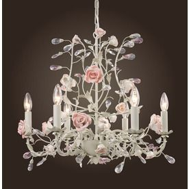 Westmore Lighting Heritage 6-Light Cream Chandelier I think I love this one