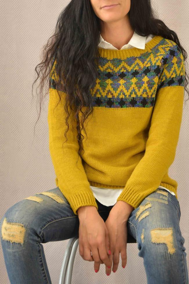 Γυναικείο πουλόβερ ζακάρ  PLEK-2708-mu  Πλεκτά > Πλεκτά και ζακέτες