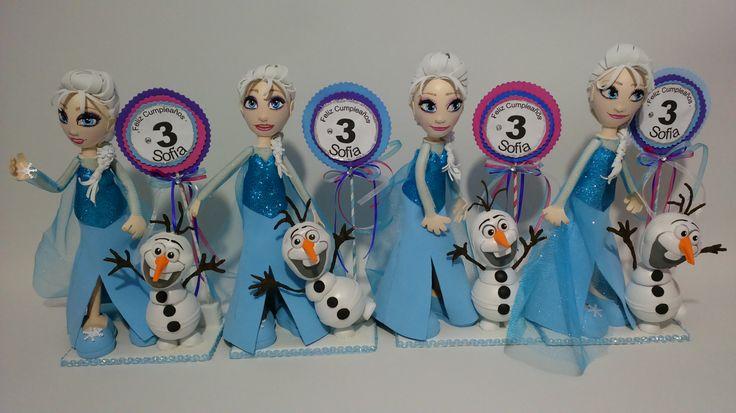 Estos Hermosos Centros de Mesa de Frozen es perfecto para tu Gran Fiesta!!! Fofucha personalizada es genial para recuerdo, centro de mesa, decoración del lugar, decoración de pasteles o cumpleaños
