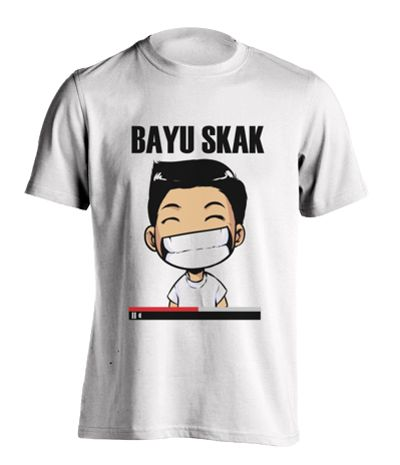 Bayuskak Tshirt white . This tee m ade from cotton 30s, with Bayuskak character print in front, and slim fit. If you a fan of this male youtuber, it's a must for you. White tee design by Bayuskak for Tees. http://www.zocko.com/z/JJ691