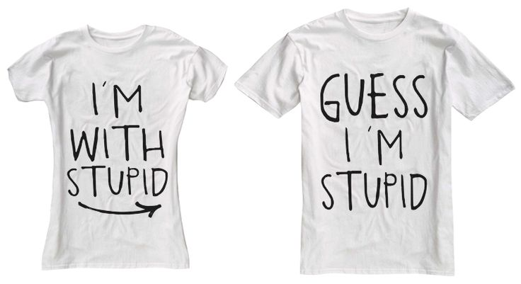 I'm With Stupid Couple T-Shirts
