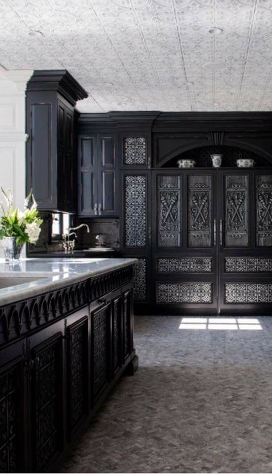 The Best 50 Black Kitchens You Need To See Gothic