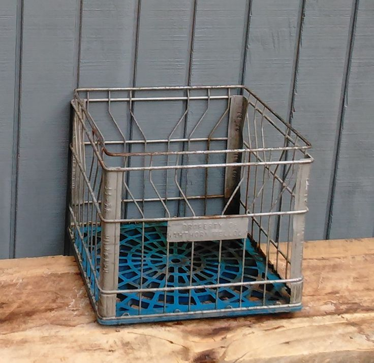 RESERVED Vintage Milk Crate AND Union Tool Box Milk