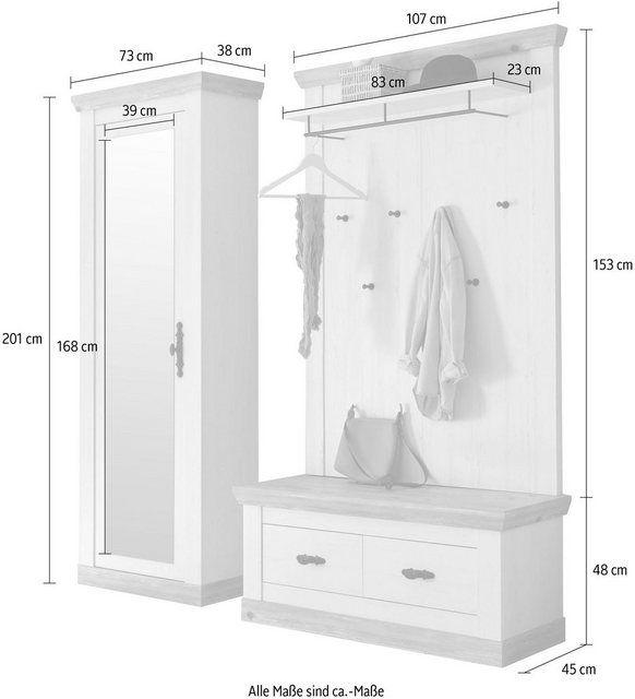 Home Affaire Garderoben Set Florenz 3 Tlg Bestehend Aus 1