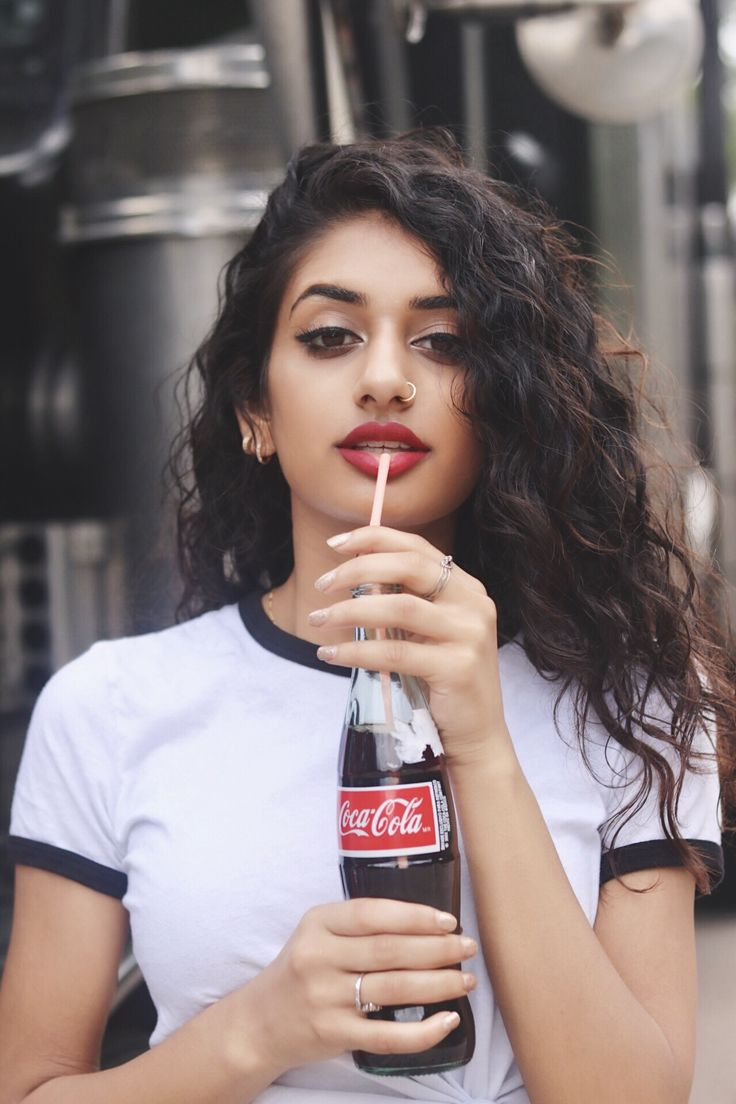 Coca Cola photoshoot / photography Instagram: hamelpatel_ // pinned for her hair style down with waves and curls