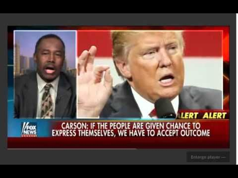 """Latest News on Donald Trump - Carson We don't have to accept political game playing 