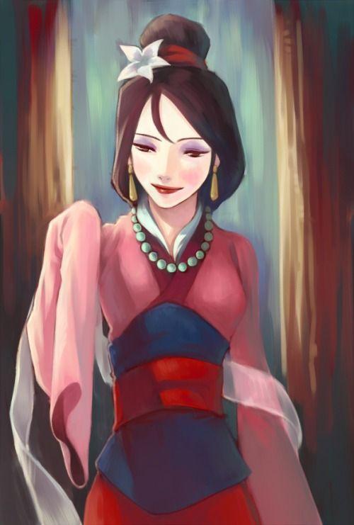Fa Mulan! Ancestrais ouçam bem,  eu vos peço proteção também. Pra que conte logo um alguém e ao meu pai eu vou honrar.
