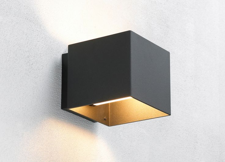 Welcome black outdoor wall lamp