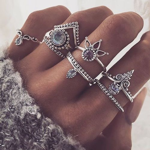 Imagem de fashion, rings, and beauty