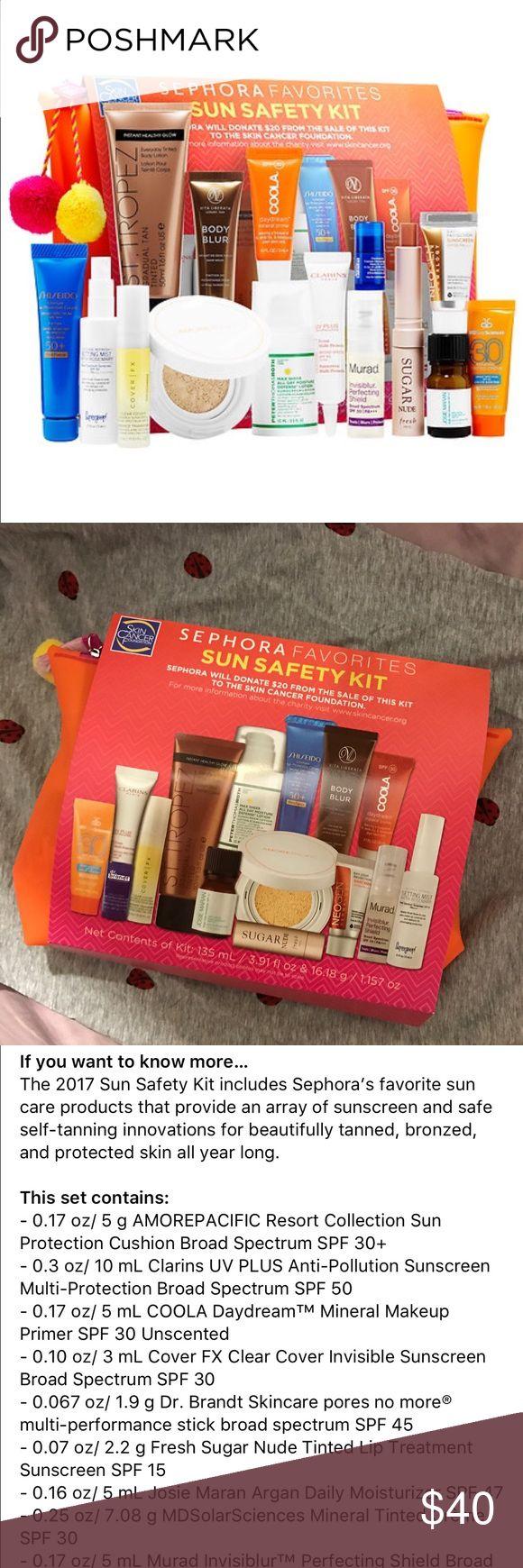 Sephora Favorites Sun Safety Kit New Sephora Favorites Sun Safety Kit 2017. Set includes fifteen pieces. Sephora Makeup