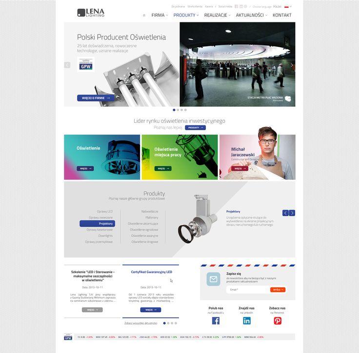 Lena Lighting Webdesign #webdesign #web #design #piotr #wolniewicz #portfolio #inspiration #corporate