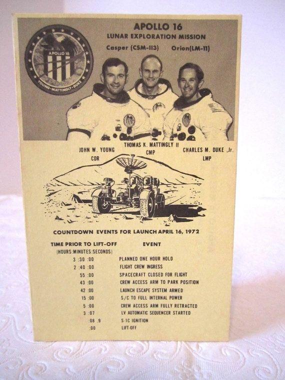 NASA Apollo 16 Sapce Mission Astronaut GE by LuckyPennyTrading
