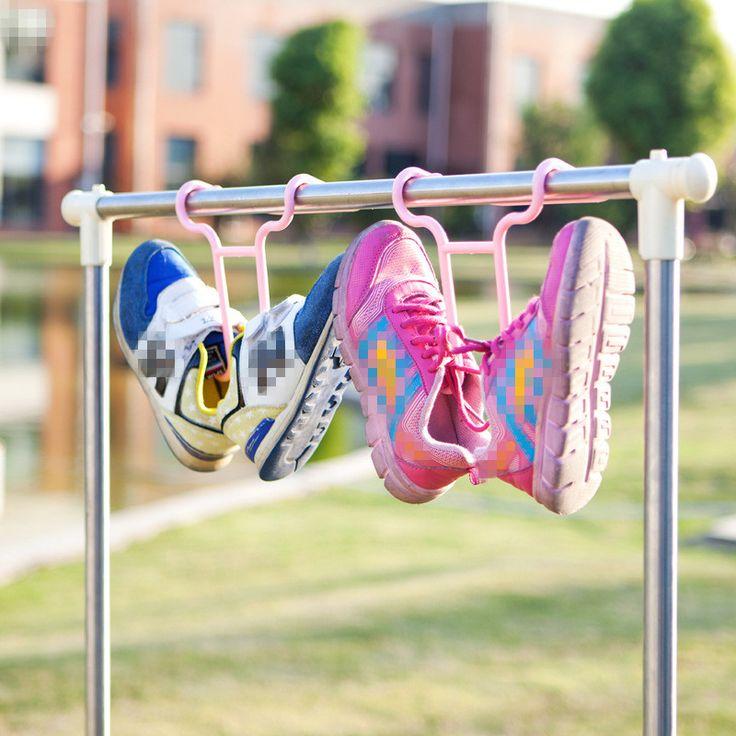 1 ШТ. Творческий Пластиковые Вешалки Для Одежды Хранения Стойку Обувь Ветрозащитный Сильное Влияние Компактный 4 цветов купить на AliExpress