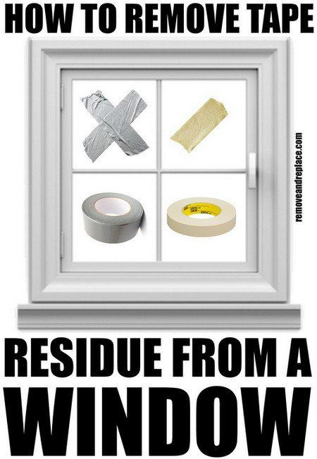 how to get tape off of glass