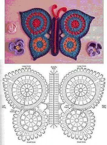 Butterfly Rug Free Diagram Pattern Tapis Manteau En