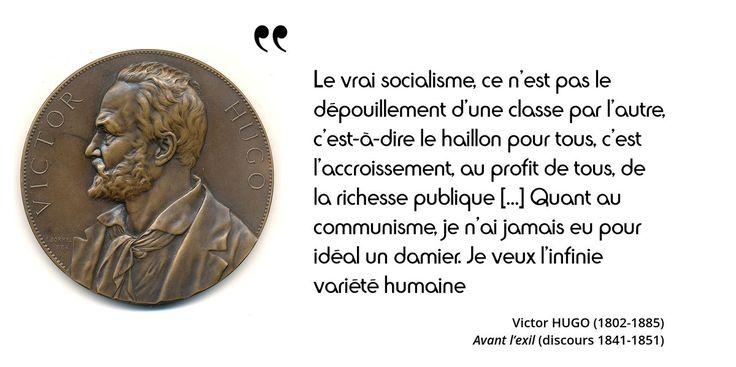 Par cette phrase Victor #Hugo semble arbitrer avec talent le conflit entre Proudhon et Marx