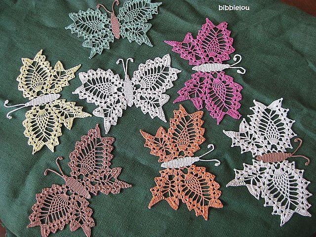 Delicate Crochet Butterfly #Crochet #Butterfly