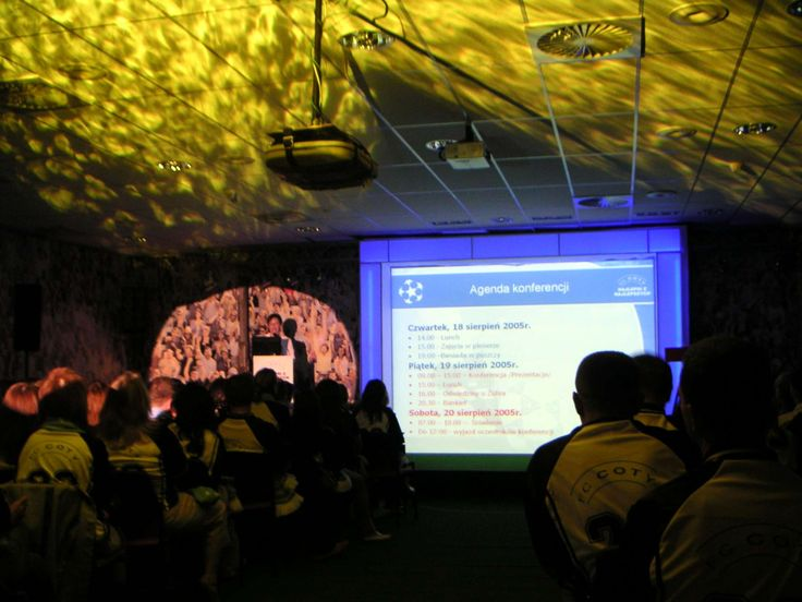 Audio Video services and light special effect for COTY conference in Poland by Kameleon-light.pl