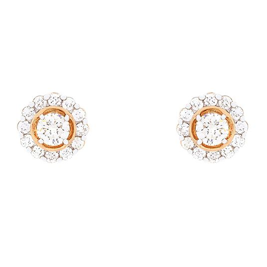 18 CARAT ROSE GOLD FANCY DIAMOND EARRINGS
