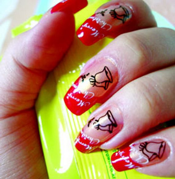 30 Christmas Nails Nail Designs Pinterest Finger Art And Pretty