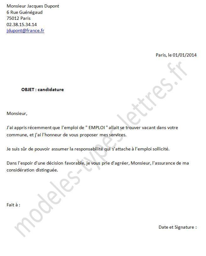 Exemple Demande D'emploi Awesome Mod¨le De Lettre Demande ...