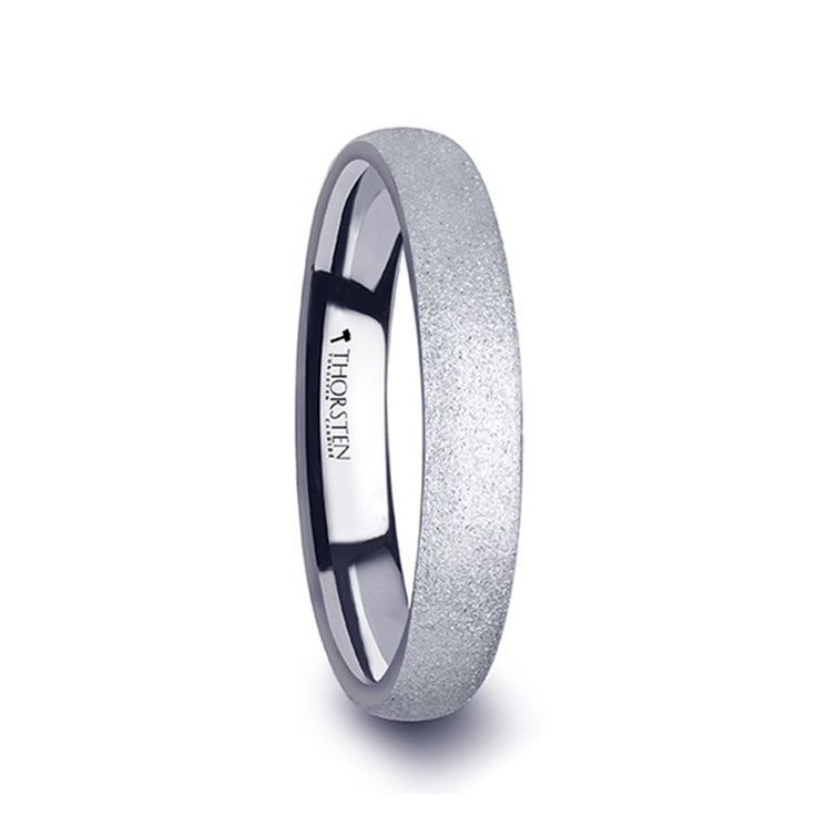 CRYSTAL    Domed Tungsten Carbide Ring w/ Sandblasted Crystalline Finish    |    2mm, 4mm & 8mm